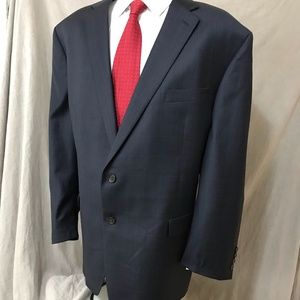 Ralph Lauren Blazer Navy Glen Plaid Blazer 52R EUC